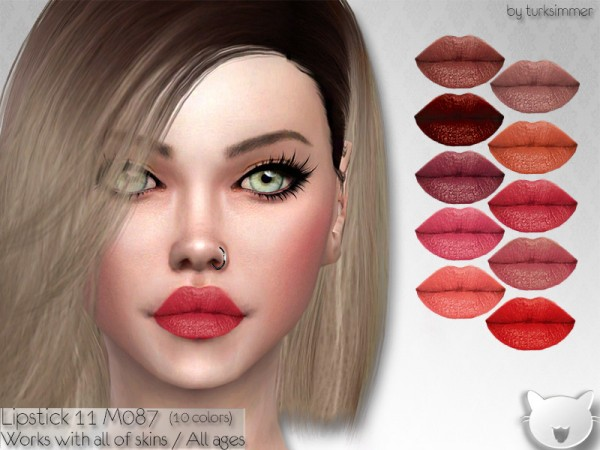 The Sims Resource: Lipstick 11 M087 by turksimmer