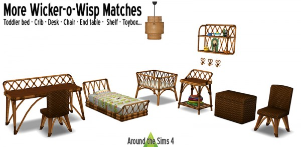 Around The Sims 4: Wicker o Wisp Matches   Kid Bedroom