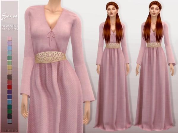 The Sims Resource: Sansa Dress by Sifix