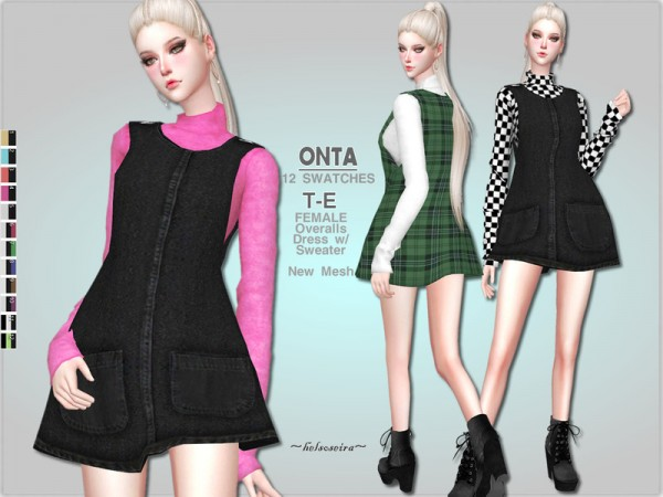 The Sims Resource: ONTA   Mini Dress by Helsoseira