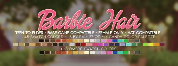 Candy Sims 4: Barbie Hair