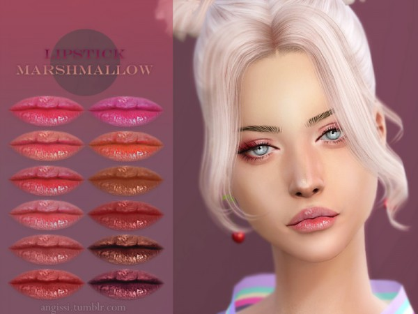 The Sims Resource: Lipstick Marshmallow by ANGISSI