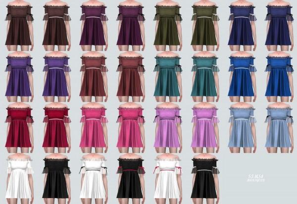 SIMS4 Marigold: Princess Off Shoulder Mini Dress