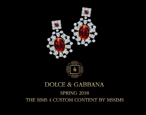 MSSIMS: Spring 2018 tiara and earrings