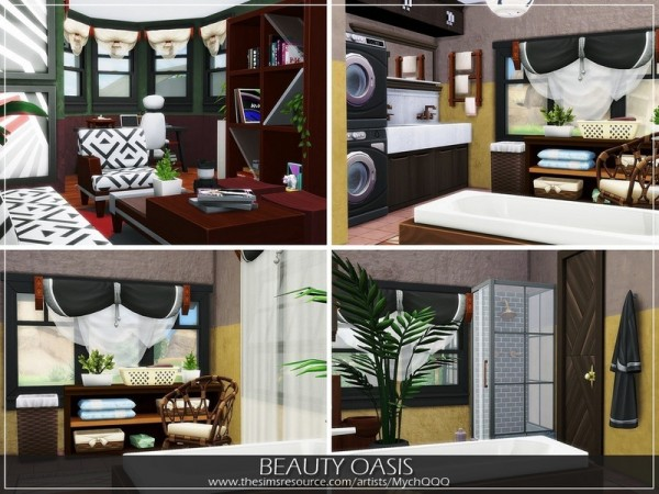 The Sims Resource: Beauty Oasis house by MychQQQ