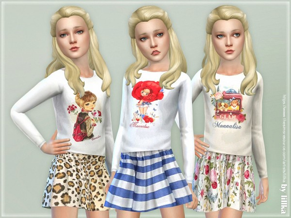 The Sims Resource: Leisure Day Outfit Girls P02 by lillka
