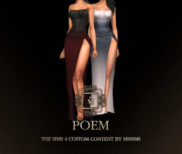 MSSIMS: Poem dress