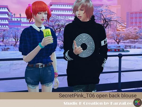 Studio K Creation: Open back blouse