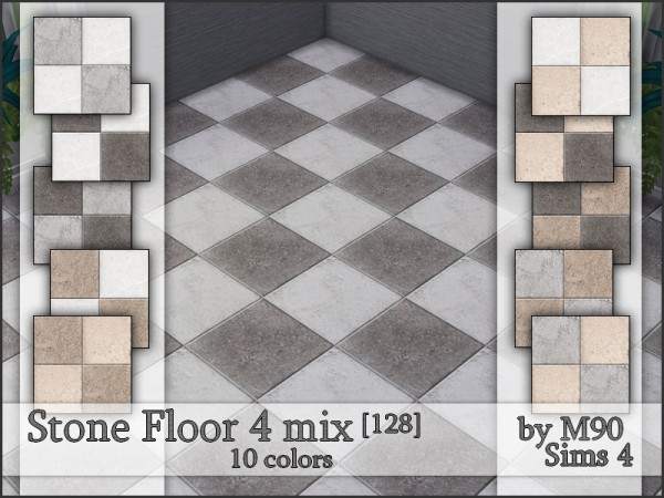 The Sims Resource: Stone Floor 4 mix by Mircia90