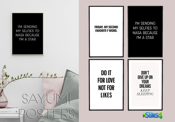 Kenzar Sims: Sayumi Posters