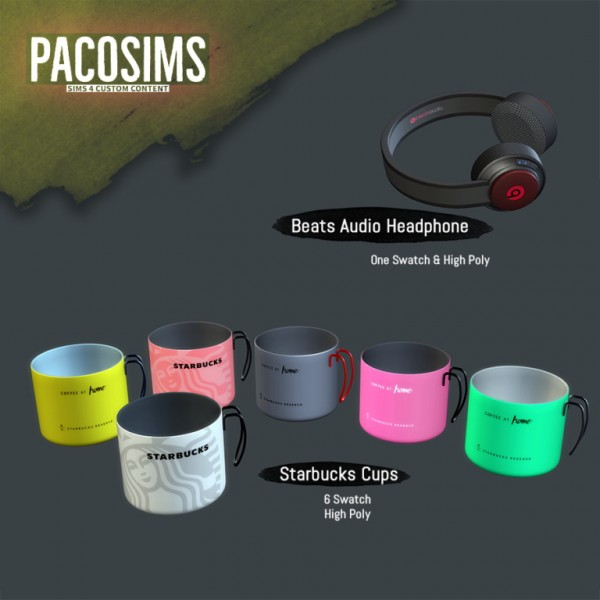 Paco Sims: Cups and headphone