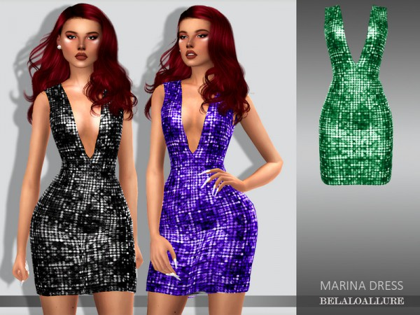 The Sims Resource: Marina dress by belal1997