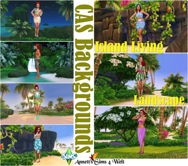 Annett`s Sims 4 Welt: CAS Backgrounds Island Living Landscape