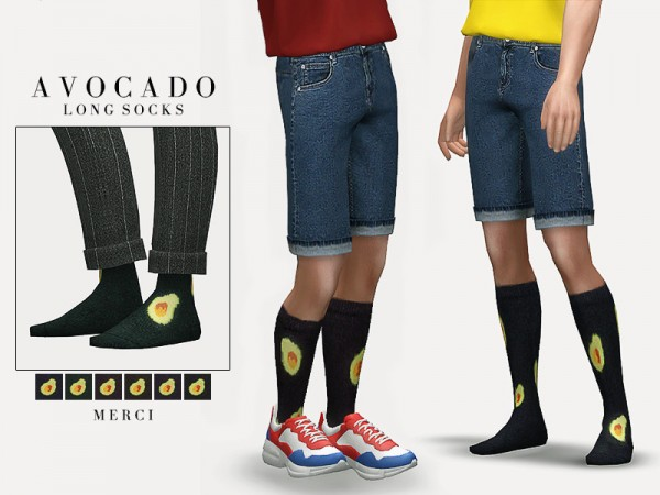 The Sims Resource: Avocado Long Socks by Merci