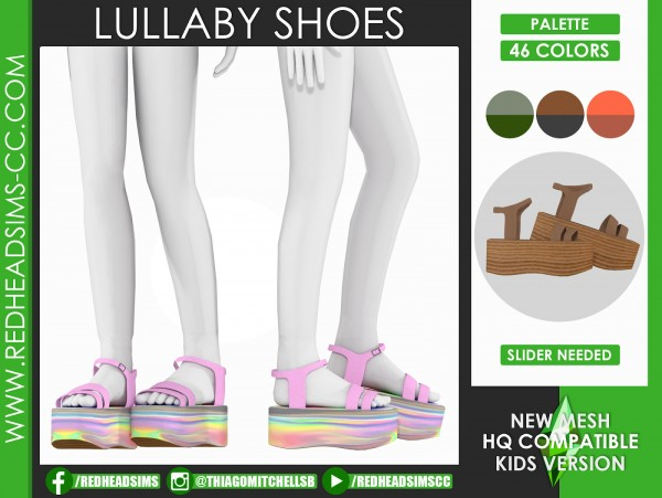 Red Head Sims: Lullaby shoes
