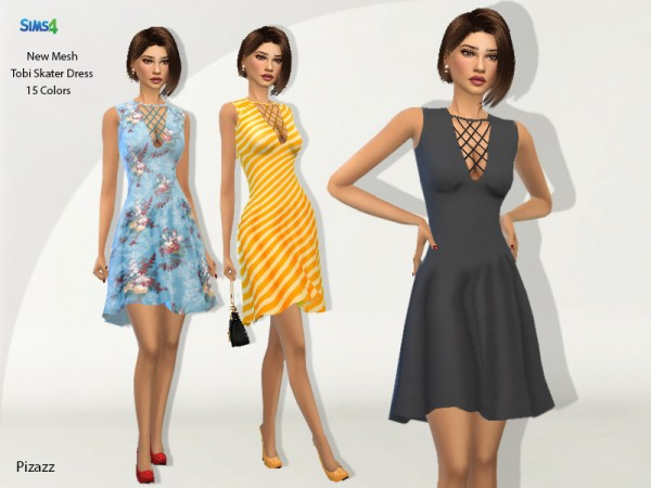 The Sims Resource: Tobi Skater Dress by pizazz