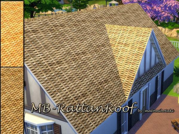 The Sims Resource: Rattan Roof by matomibotaki