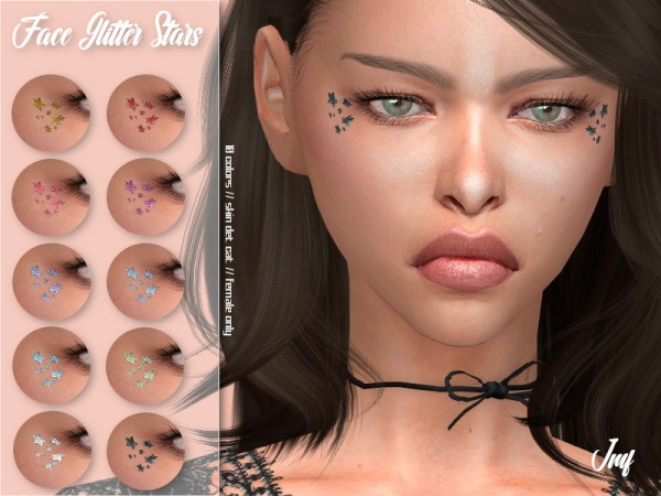 The Sims Resource: Face Glitter Stars by IzzieMcFire