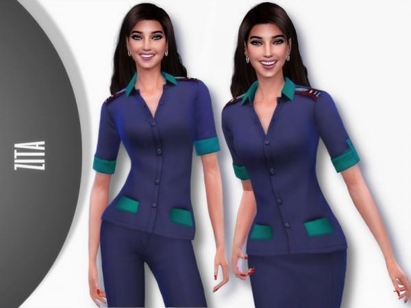 The Sims Resource: Binnelanders Nursing Outfit by ZitaRossouw