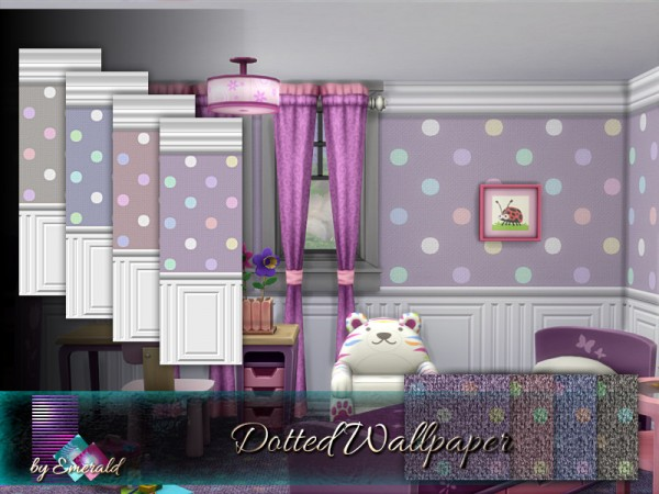 The Sims Resource: Dotted Wallpaper by emerald