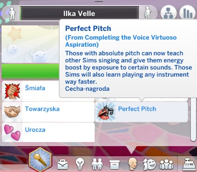 Mod The Sims: Voice Virtuoso Aspiration by IlkaVelle