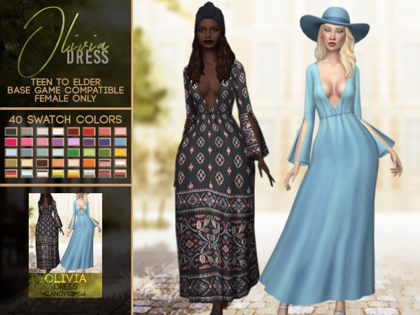 Candy Sims 4: Olivia dress