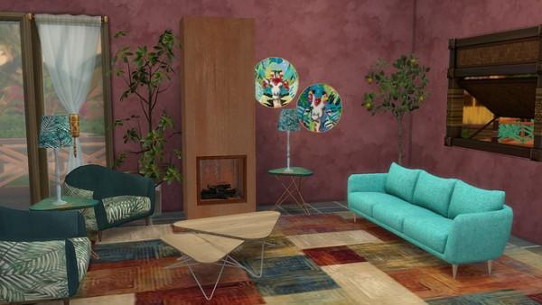 Blooming Rosy: Tropical Dreams livingroom