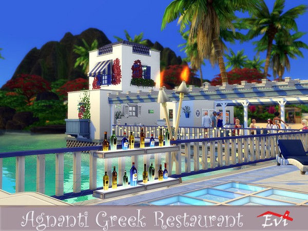 The Sims Resource: Agnati Greek Restaurant by evi