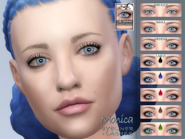 The Sims Resource: Monica eyeliner and lashes by BAkalia