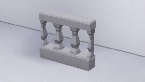 Mod The Sims: Baluster Rail Fence by TheJim07