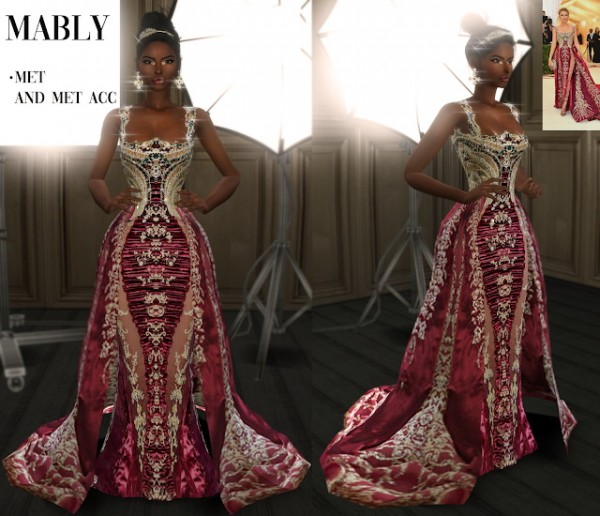 Mably Store: Met acc and gown