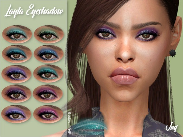 The Sims Resource: Layla Eyeshadow N.97 by IzzieMcFire