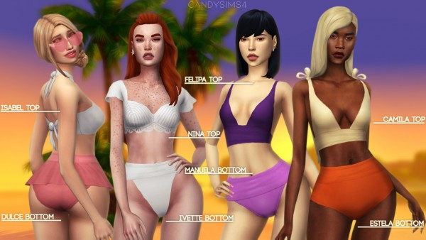 Candy Sims 4: Tropico swimwear collection