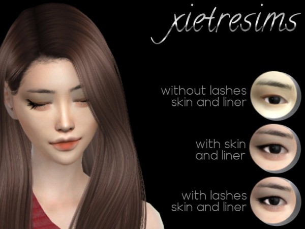 The Sims Resource: Xietre Matte Eyeshadow by dimisims
