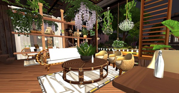 Hoanglap Sims: Small coffee house covered by lovely plants