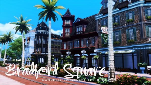 Simsational designs: Welcome to Bradford Square   Magnolia Promenade Makeover