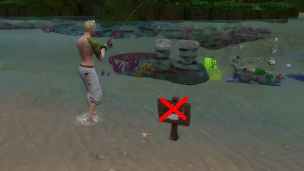 Mod The Sims: Shell fishing sign by Serinion