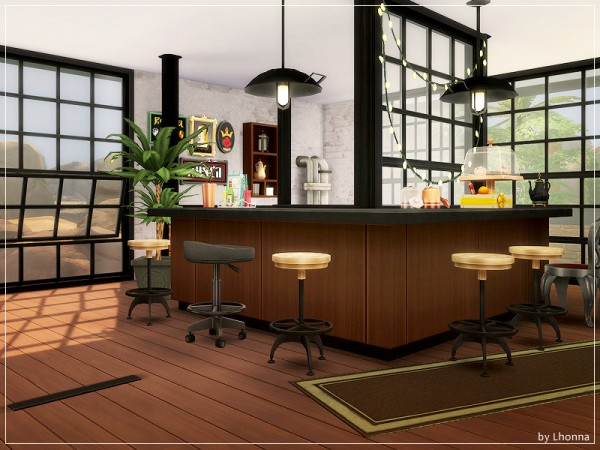 The Sims Resource: Industrial Cafe by Lhonna