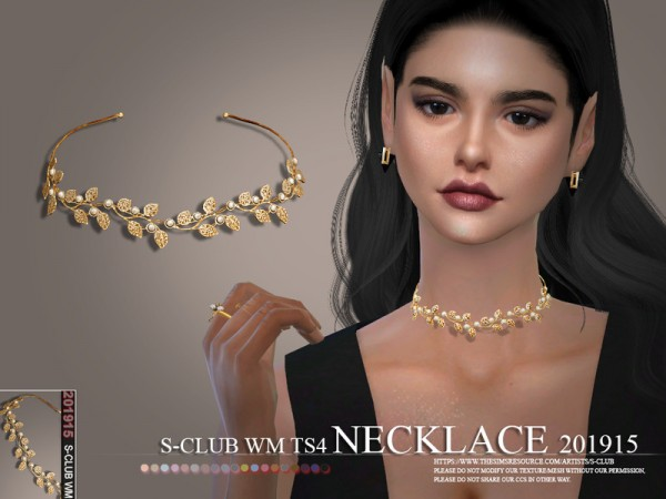 The Sims Resource: Necklace 201915 by S Club