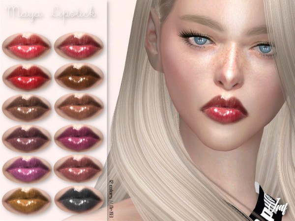The Sims Resource: Maya Lipstick N.193 by IzzieMcFire