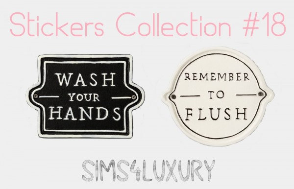 Sims4Luxury: Stickers Collection 18
