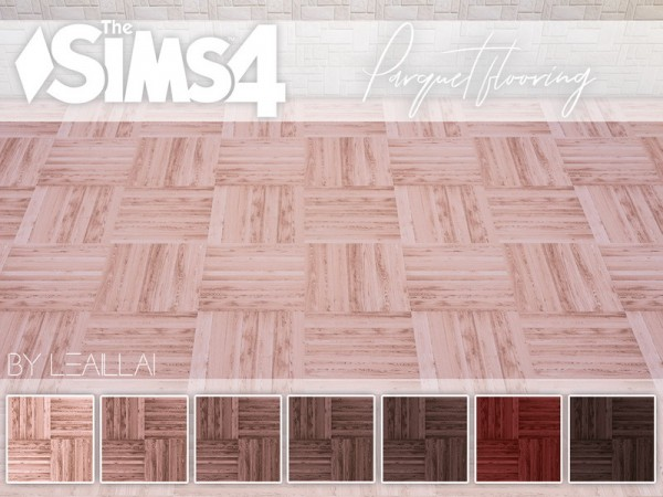 The Sims Resource: Parquet set by LeaIllai