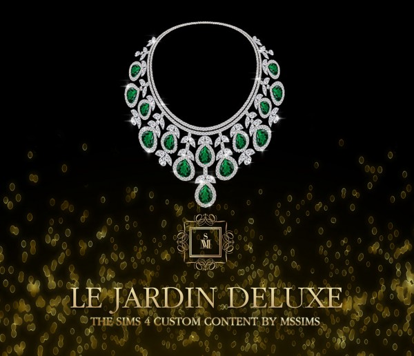 MSSIMS: Le jardin deluxe necklace and earrings set