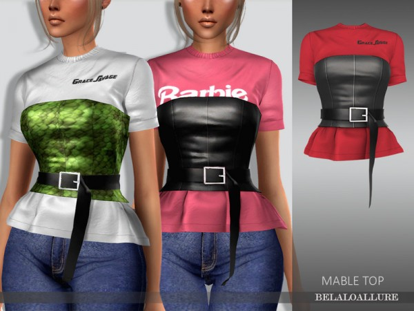 The Sims Resource: Mable top by belal1997