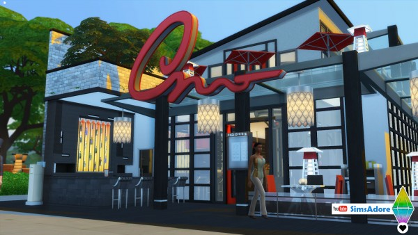 Mod The Sims: Modern Restaurant   No CC by bradybrad7