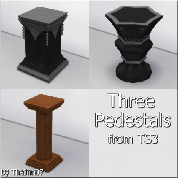 Mod The Sims: Three Pedestals by TheJim07
