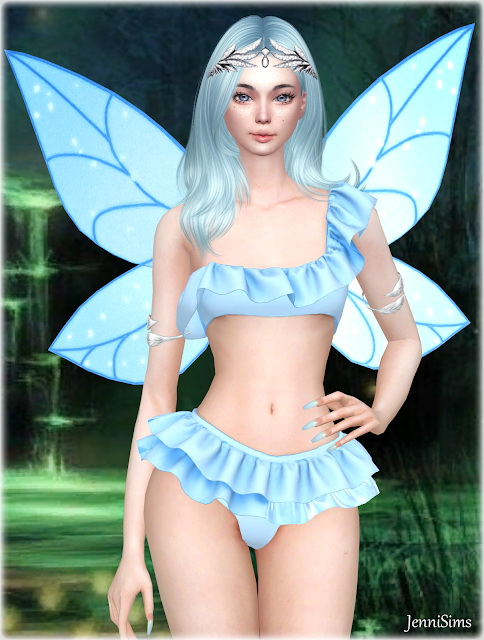 Jenni Sims: Collection Acc Magic Happens(Wings, Bracelet Dual ,Crown Splendor, Crown Fairy)