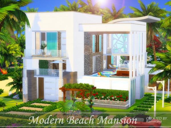The Sims Resource: Modern Beach Mansion   No cc by Runaring