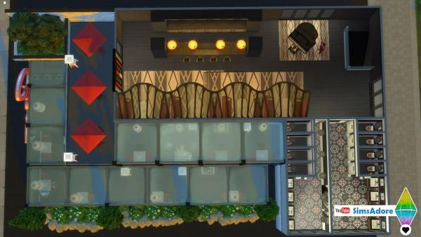 Mod The Sims: Modern Restaurant   No CC by bradybrad7