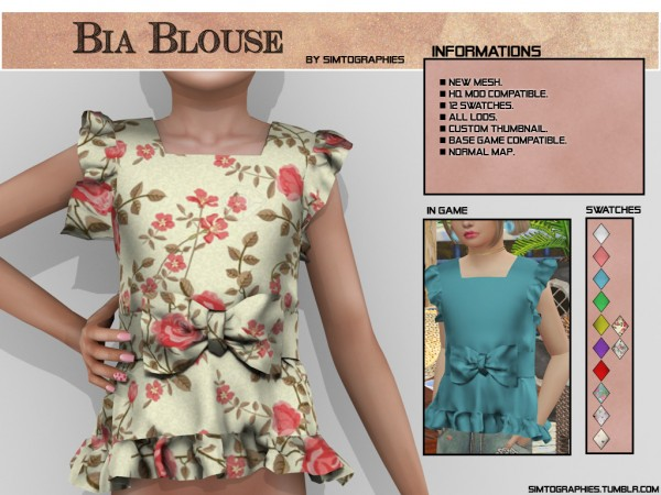 Simtographies: Bia Blouse